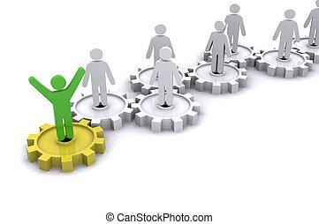 Teamwork Cogs - A Colourful 3d Rendered Teamwork Cog Concept...