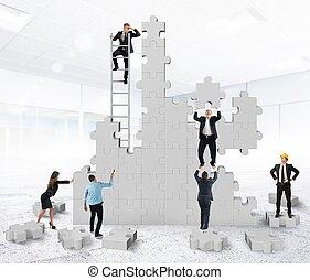 Teamwork collaborates