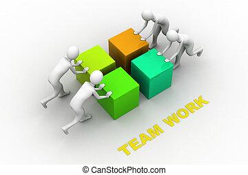 Teamwork. Concept. 3d illustration