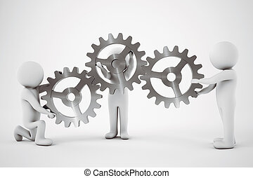 Teamwork concept. 3D Rendering