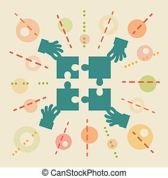 Teamwork. Concept business illustration