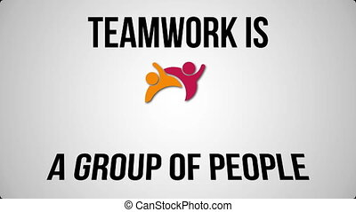 Teamwork concept motion graphic text and graphic