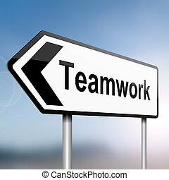 Teamwork concept.