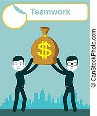 Teamwork. Concept illustration
