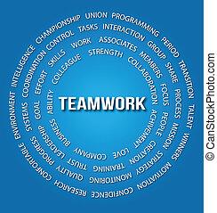 Teamwork concept in circles