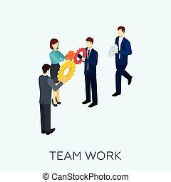 Teamwork Concept Isometric