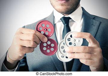 Teamwork concept - Businessman and teamwork concept