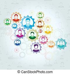Teamwork concept, Vectors illustrations