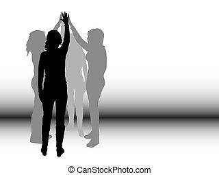 Teamwork - Conceptual image depicting teamwork
