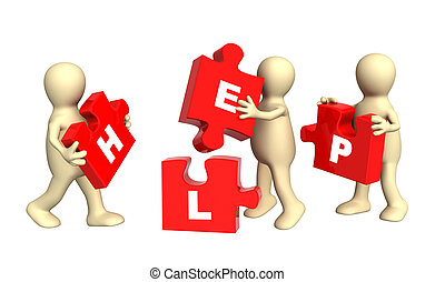 Conceptual image - success of teamwork