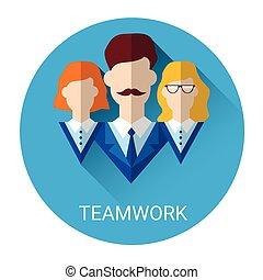 Teamwork Cooperation Business Partnership Icon