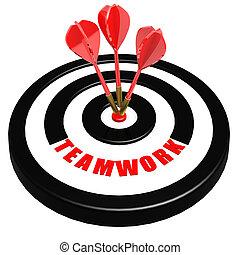Teamwork dart board