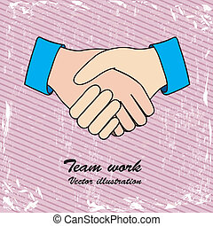 teamwork design over lineal background vector illustration