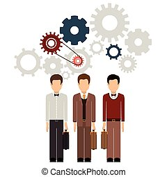 Teamwork design - Teamwork and businesspeople concept...
