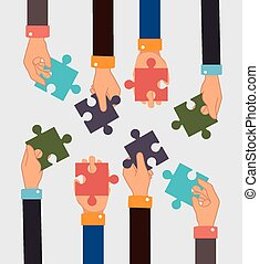 Teamwork design. - Teamwork design over white background,...