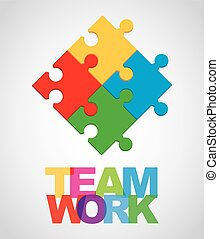 teamwork design - teamwork graphic design , vector...