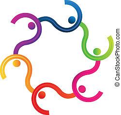 Teamwork diversity logo