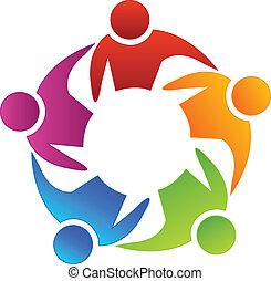 Teamwork diversity logo - Teamwork diversity concept vector...