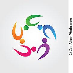 Teamwork fitness logo