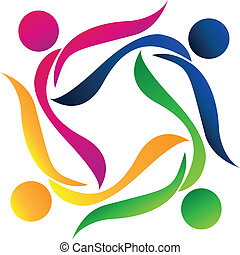 teamwork, folk, logo
