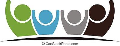 Teamwork Four Friends logo image.
