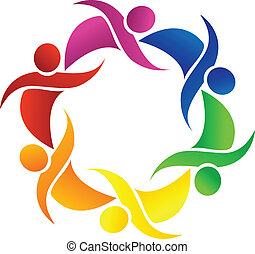 teamwork, glade, folk, logo