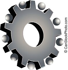 Teamwork gray gear logo