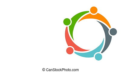 Teamwork Group Meeting. Video Logo Animation