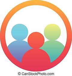 Teamwork group people, vector logo