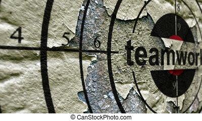 Teamwork grunge target