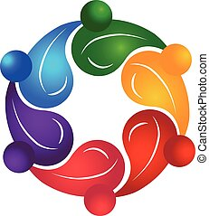 Teamwork healthy people logo