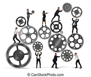 teamwork, i, businesspeople