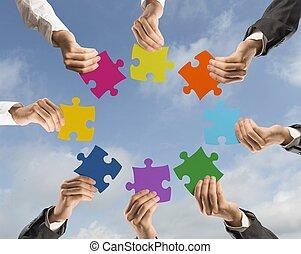 teamwork, i, integracja, pojęcie