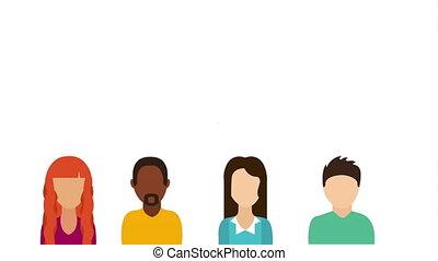 Teamwork icon design, Video Animation