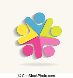 Teamwork icon logo template