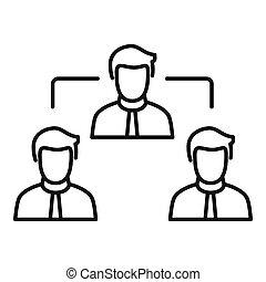 Teamwork icon, outline style