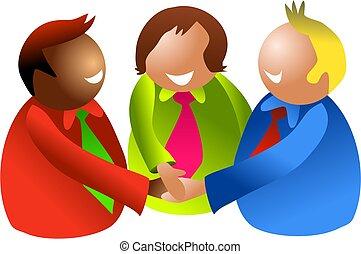 teamwork - icon people