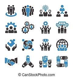 teamwork icon - teamwork, partnership icon set