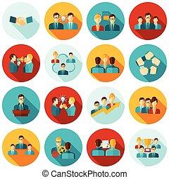 Teamwork Icons Flat