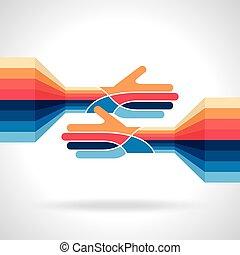 teamwork idea vector