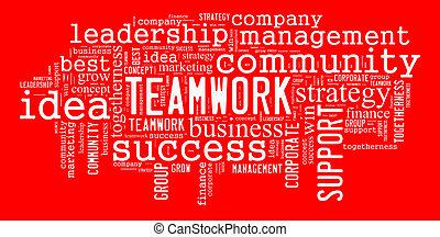 Teamwork illustration concept