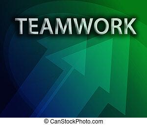 teamwork, ilustracja