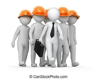 teamwork, image with a work path