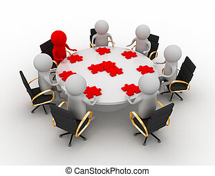 teamwork in a business meeting