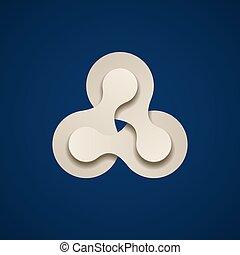 teamwork infinity chain paper emblem