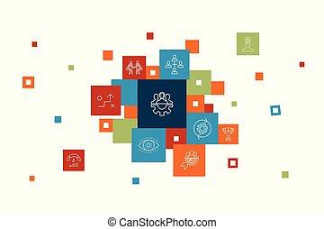 Teamwork Infographic 10 steps pixel design. collaboration, ...