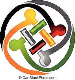 Teamwork Logo Template