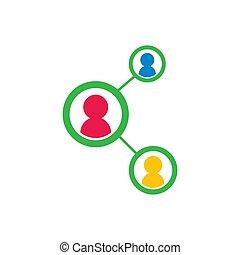 Teamwork logo vector icon