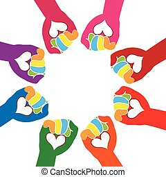 Teamwork love hands logo