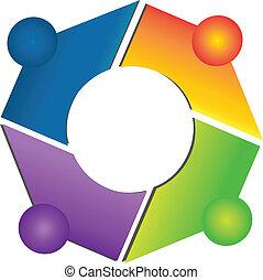 Teamwork network connections logo